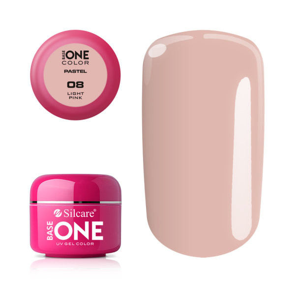 Gel UV Color Base One 5g Pastel 08 Light Pink baseone.ro