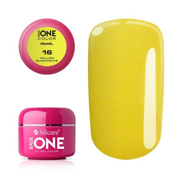 Gel UV Color Base One 5g Pearl Yellow Sunmarine 16 baseone.ro