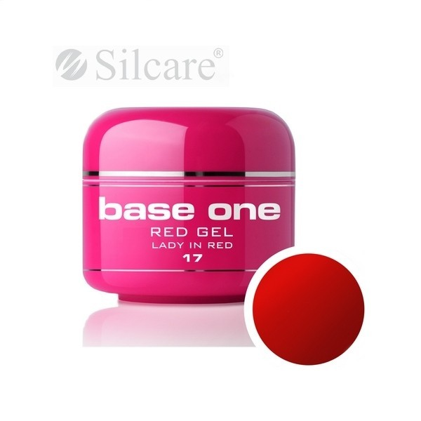 Gel UV Color Base One 5g Red-Lady in Red 17 baseone.ro