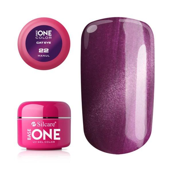 Gel UV Color Base One Silcare Cat Eye Magnetic Manul 22 baseone.ro