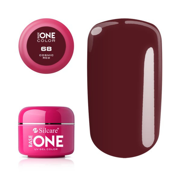 Gel uv Color Base One Silcare Clasic Cosmic Red 68 baseone.ro