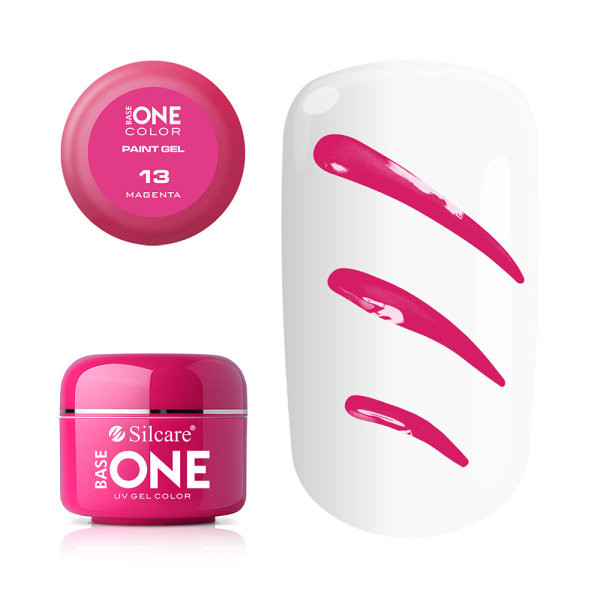 Gel UV Color Base One Silcare Paint Magenta 13 baseone.ro
