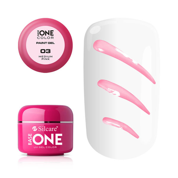 Gel UV Color Base One Silcare Paint Medium Pink 03 baseone.ro