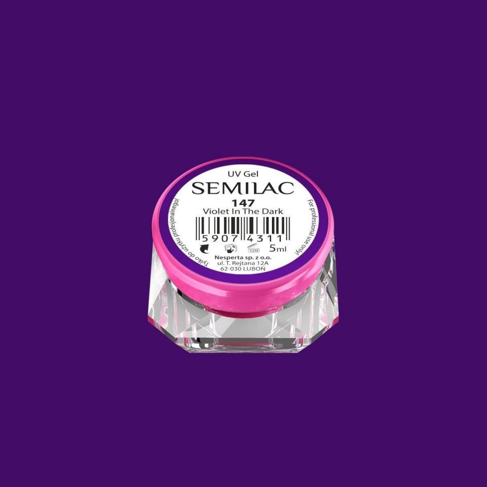 Gel UV Color Semilac-Violet In The Dark 147 baseone.ro