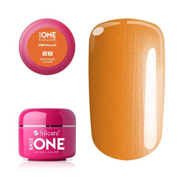 Gel UV Color Base One 5g Metalic Orange Juice 28 baseone.ro
