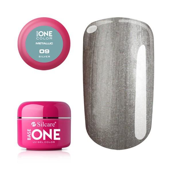 Gel UV Color Base One 5g Metalic Silver 09 baseone.ro