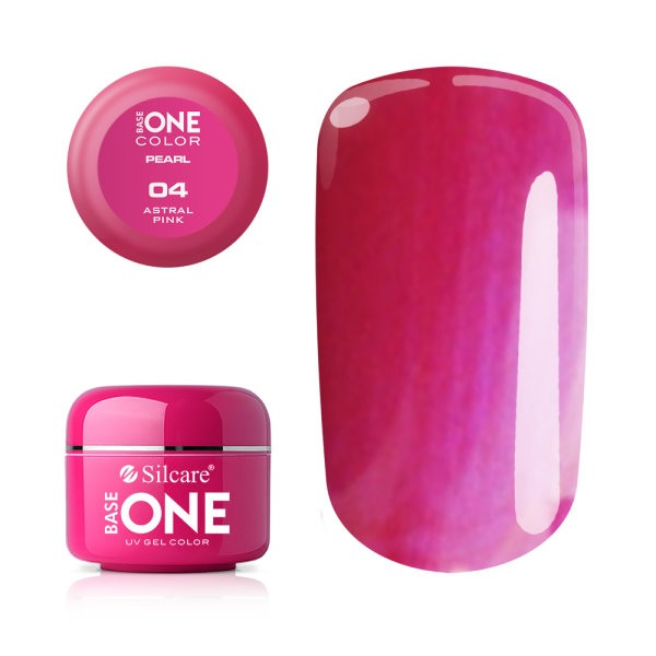 Gel UV Color Base One 5g Pearl 04 Astral Pink. baseone.ro