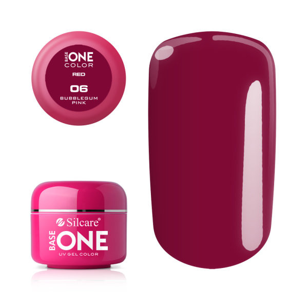 Gel UV Color Base One 5g Red Bubblegum Pink 06 baseone.ro