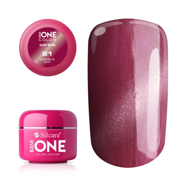 Gel UV Color Base One Silcare Cat Eye Magnetic Jungle Cat 21 baseone.ro