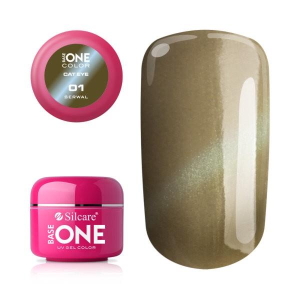 Gel UV Color Base One Silcare Cat Eye Magnetic Serwal 01 baseone.ro