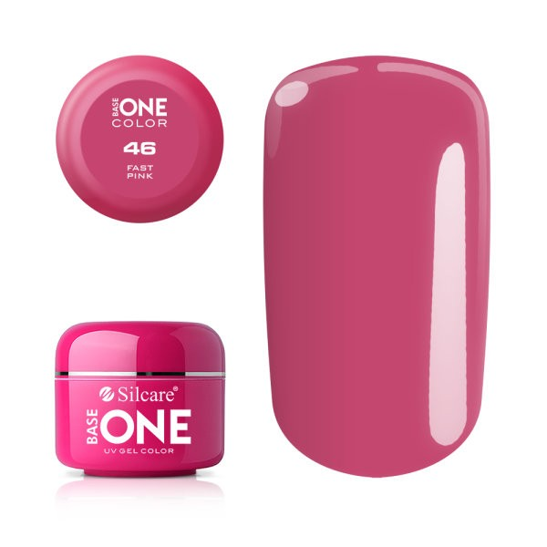Gel uv Color Base One Silcare Clasic Fast Pink 46 baseone.ro