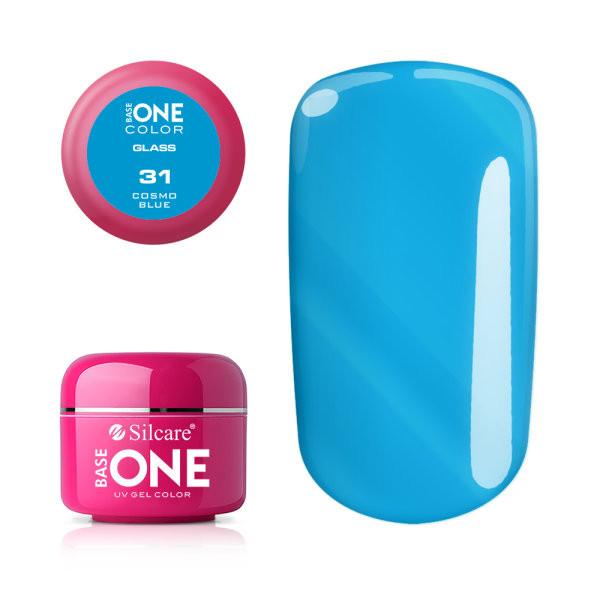 Gel uv Color Base One Silcare Glass Cosmo Blue 31 baseone.ro