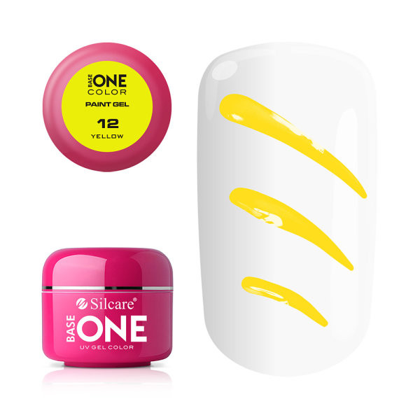 Gel UV Color Base One Silcare Paint Yellow 12 baseone.ro