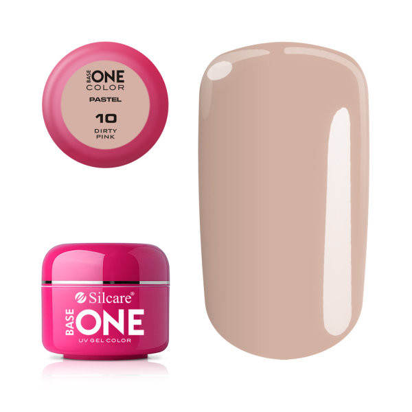 Gel UV Color Base One 5g Pastel 10 Dirty Pink baseone.ro