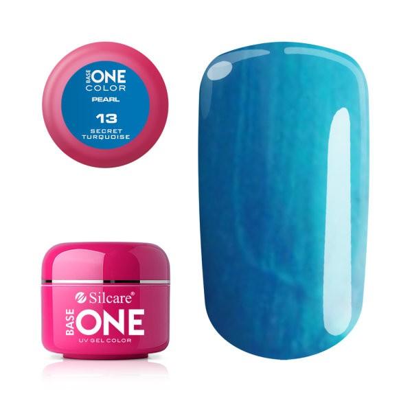 Gel UV Color Base One 5g Pearl 13 Secret Turquoise baseone.ro