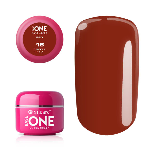 Gel UV Color Base One 5g Red-Coffee Red 16 baseone.ro