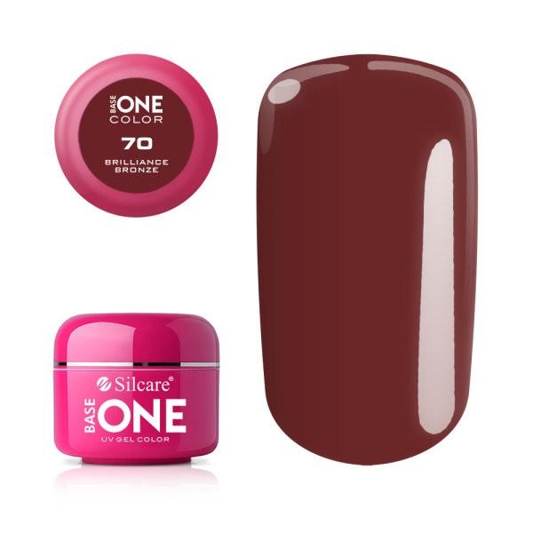 Gel uv Color Base One Silcare Clasic Briliance Bronze 70 baseone.ro