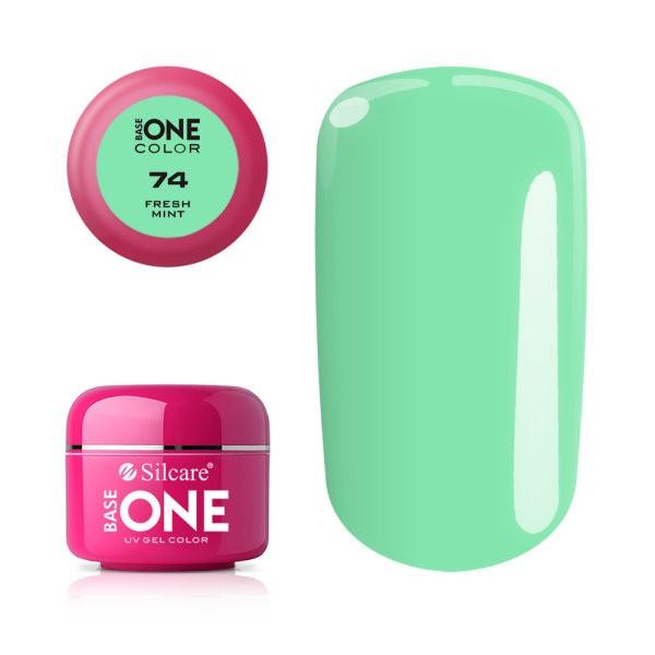 Gel uv Color Base One Silcare Clasic Fresh Mint 74 baseone.ro