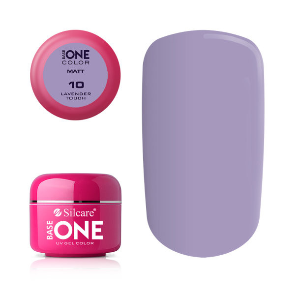 Gel uv Color Base One Silcare Matt Lavender Touch 10 baseone.ro