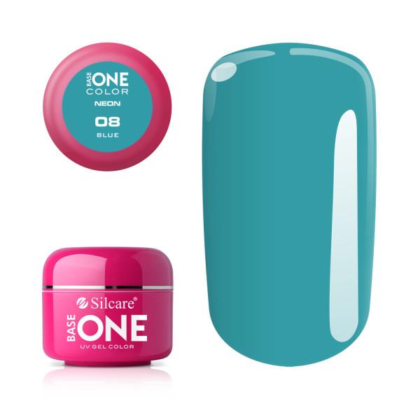Gel UV Color Base One Silcare Neon Blue 08 baseone.ro