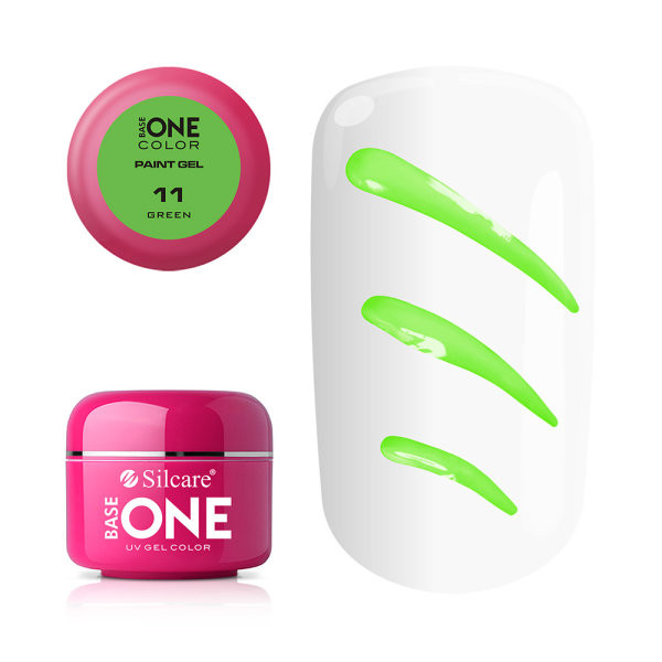 Gel UV Color Base One Silcare Paint Green 11 baseone.ro