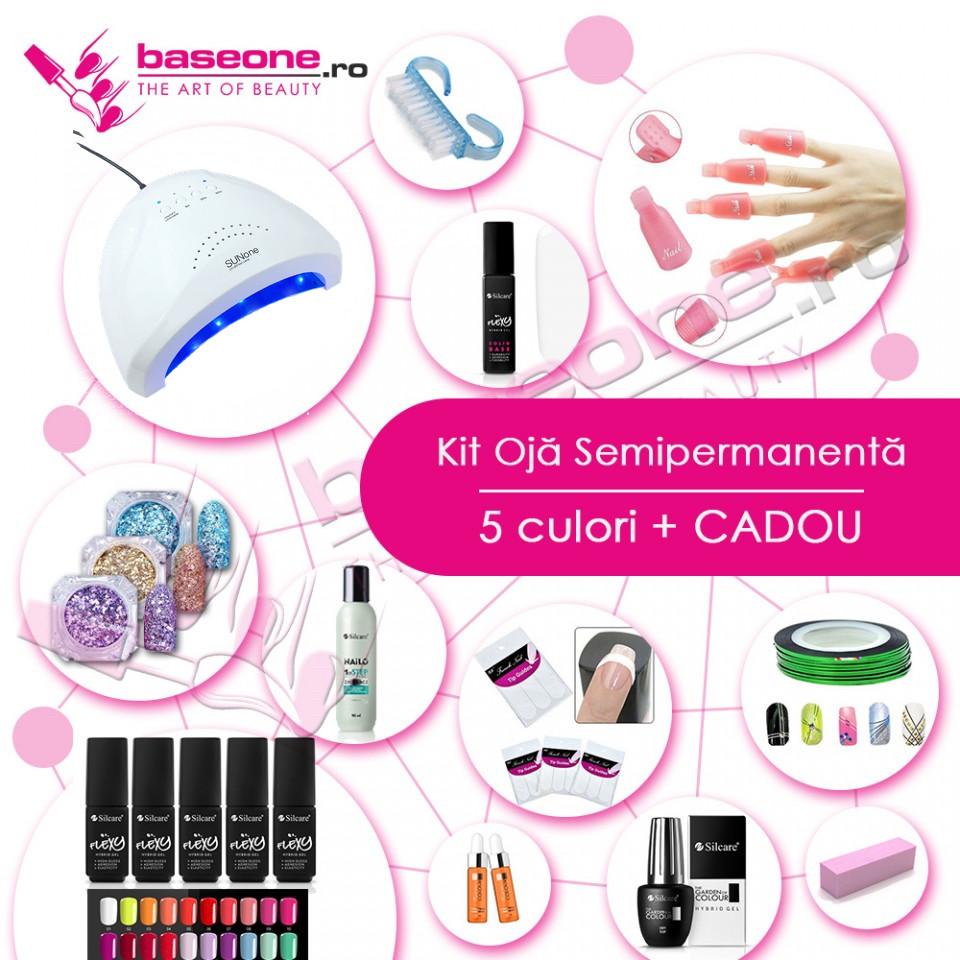 Kit unghii Oja Semipermanenta FLEXY SILCARE#1 baseone.ro
