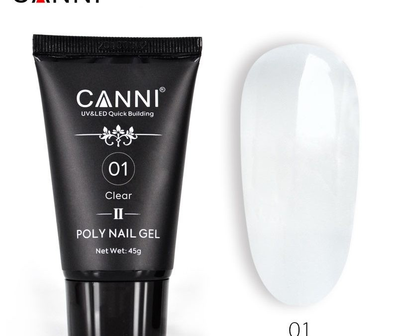 POLY NAIL GEL CANNI NEW FORMULA CLEAR 01 45G baseone.ro