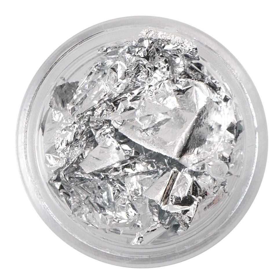 Foita creponata Argintie baseone.ro