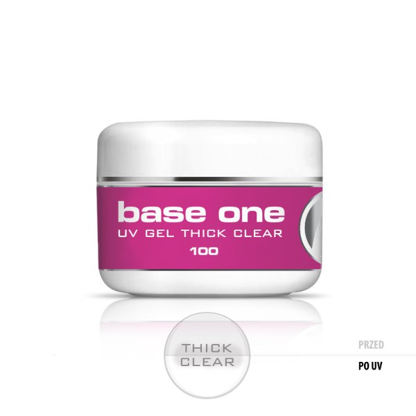 Gel uv Base One Thick Clear-Transparent 100g baseone.ro