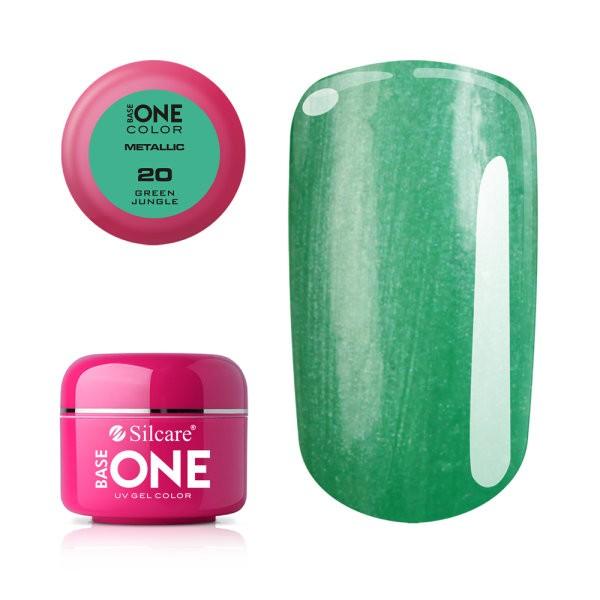 Gel UV Color Base One 5g Metalic Green Jungle 20 baseone.ro