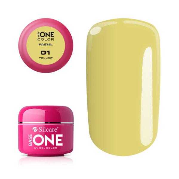 Gel UV Color Base One 5g Pastel 01 Yellow baseone.ro