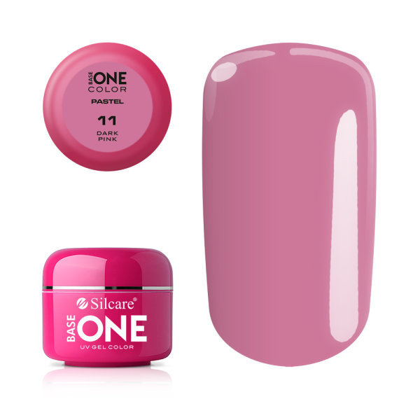 Gel UV Color Base One 5g Pastel 11 Dark Pink baseone.ro
