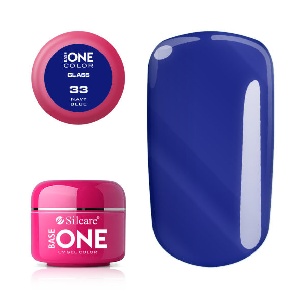 Gel uv Color Base One Silcare Glass Navy Blue 33 baseone.ro