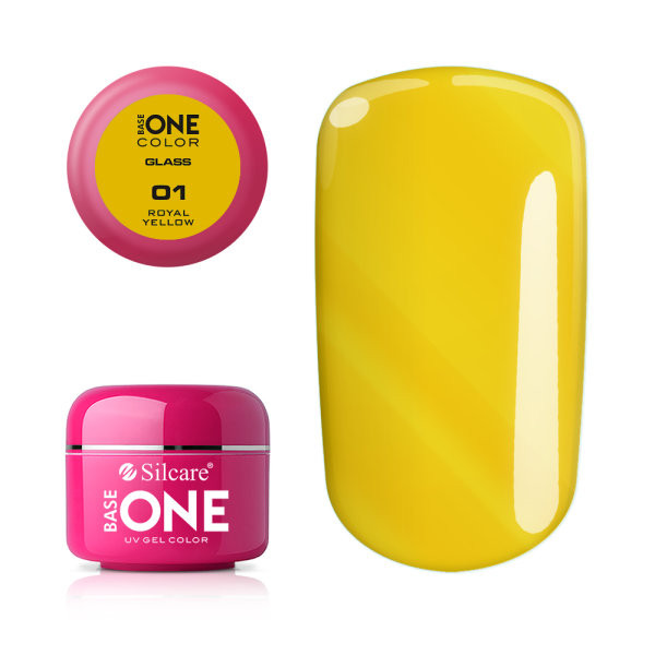 Gel uv Color Base One Silcare Glass Royal Yellow 01 baseone.ro