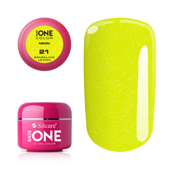 Gel UV Color Base One Silcare Neon Sparkling Lemon 21 baseone.ro