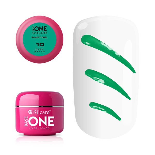 Gel UV Color Base One Silcare Paint Dark Green 10 baseone.ro