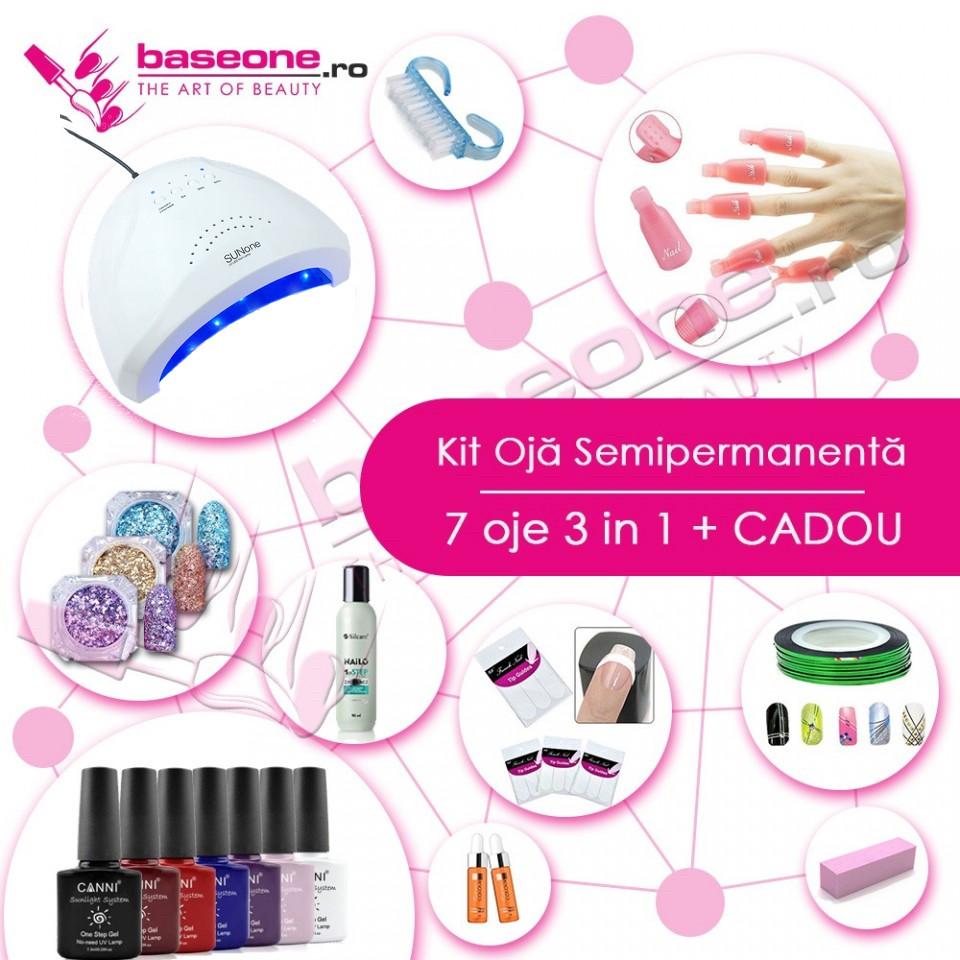 Kit unghii Oja Semipermanenta CANNI 3in1 #2 baseone.ro