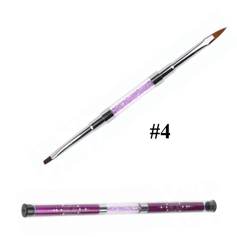 Pensula unghii cu doua capete nr 4 baseone.ro