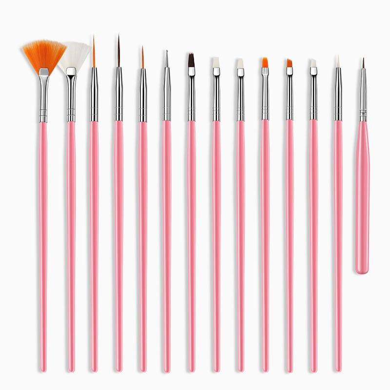 Pensule gel set Pink NBS15P baseone.ro