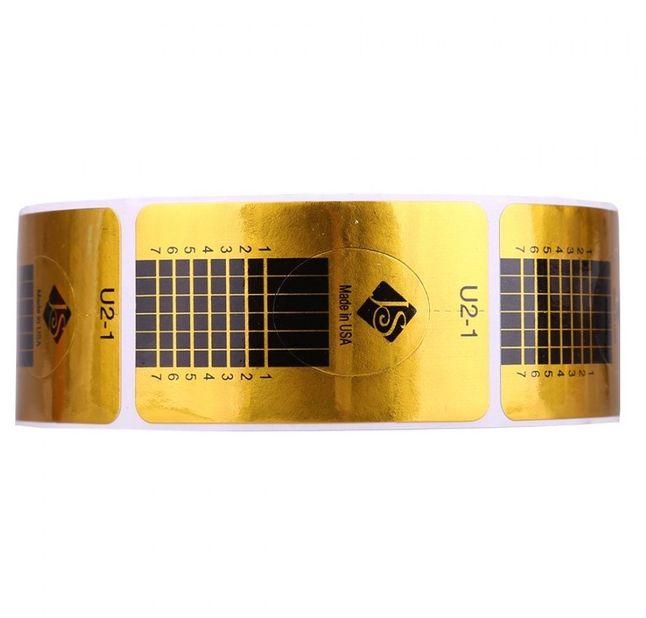 Sabloane pentru constructie unghii Dreptunghiulare Aurii 500buc U2-1 baseone.ro