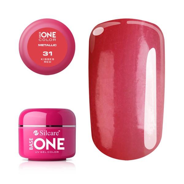 Gel UV Color Base One 5g Metalic Kisses Red 31 baseone.ro