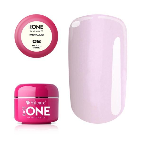 Gel UV Color Base One 5g Metalic Pearl Pink 02 baseone.ro