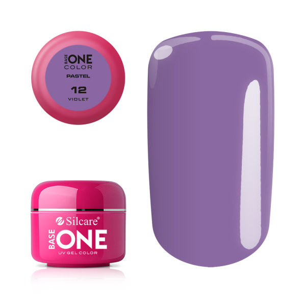 Gel UV Color Base One 5g Pastel 12 Violet baseone.ro