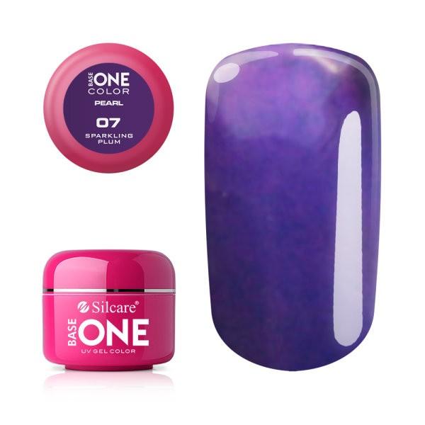 Gel UV Color Base One 5g Pearl 07 Sparkling Plum baseone.ro