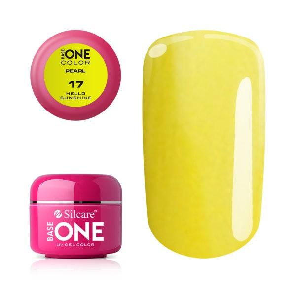 Gel UV Color Base One 5g Pearl 17 Hello Sunshine baseone.ro