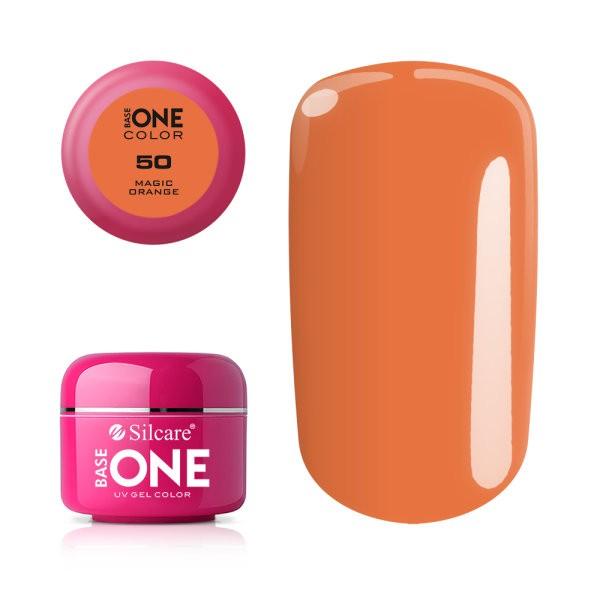 Gel uv Color Base One Silcare Clasic Magic Orange 50 baseone.ro