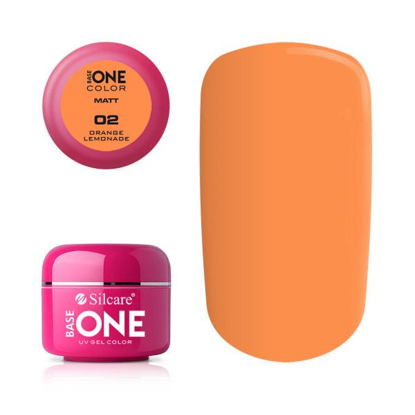 Gel uv Color Base One Silcare Matt Orange Lemonade 02 baseone.ro