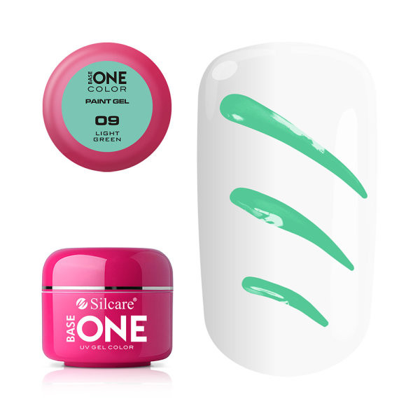 Gel UV Color Base One Silcare Paint Light Green 09 baseone.ro