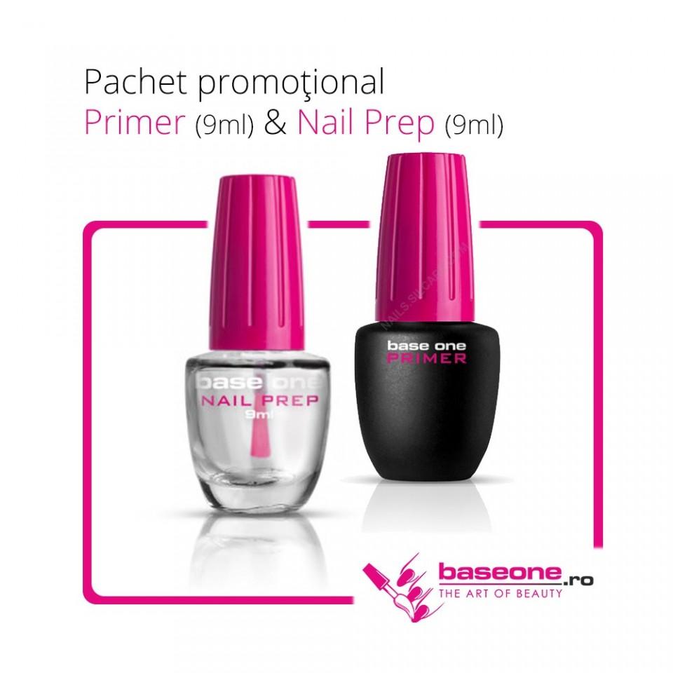 Pachet Promotional Primer Base One 9ml+Nail Prep 9ml baseone.ro