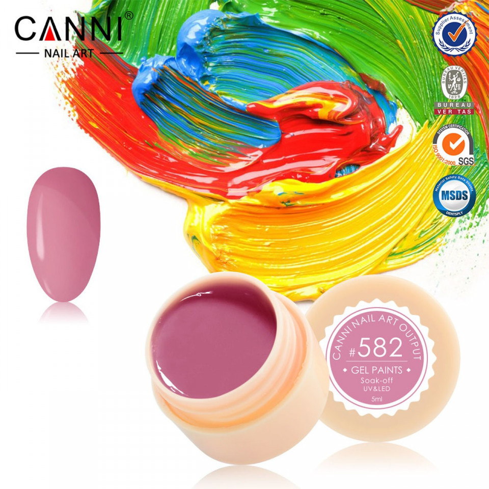 Gel color CANNI 5ml 582 baseone.ro